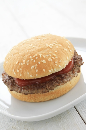 beefburger: burger with fries