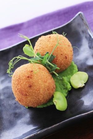 scotch eggs plated appetizer