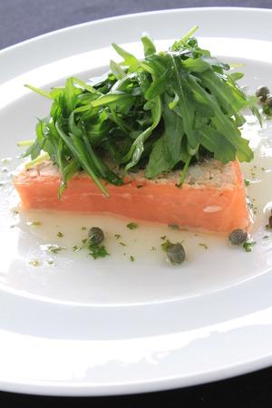starter: smoked cured salmon starter appetizer