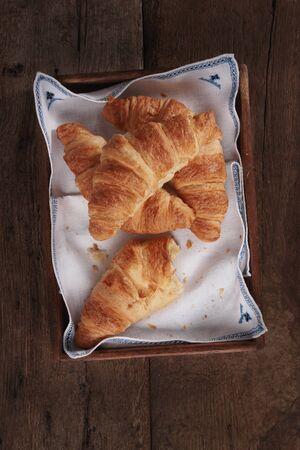 fresh baked: fresh baked croissant breakfast
