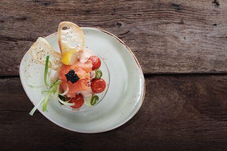 starter: mixed sea food starter Stock Photo