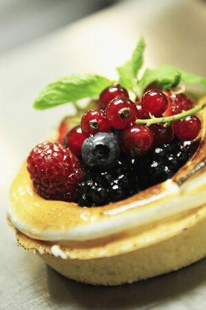 tarts: chef making dessert tarts