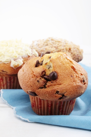 elevenses: selection of fresh muffins