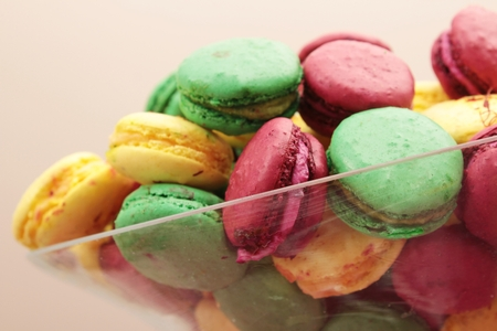 indulgent: fresh baked macaroons Stock Photo