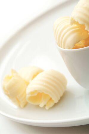 curls: fresh butter curls in dish