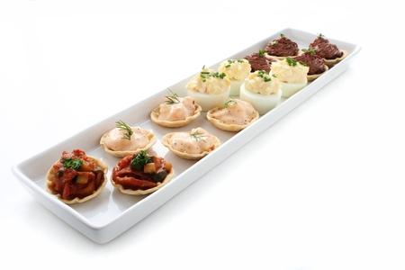 platter: canape selection platter Stock Photo