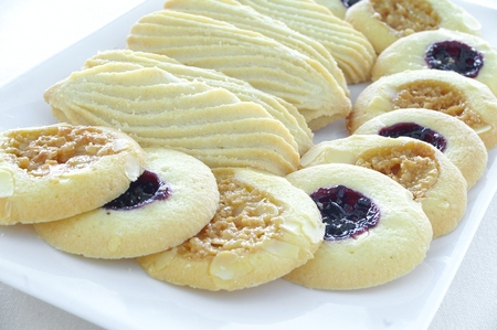 shortbread: fresh baked shortbread cookies Stock Photo
