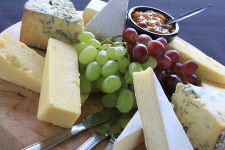 cheese selection platter Stock Photo