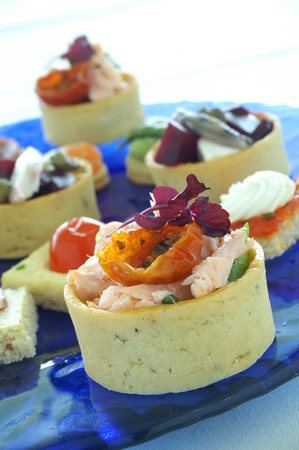 finger food: canape finger food Stock Photo