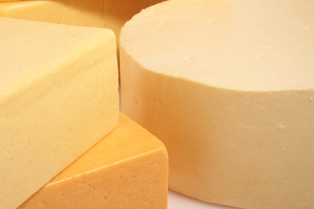 ingrediant: selection of fresh cheese Stock Photo