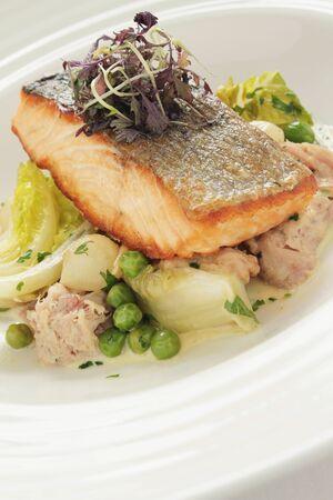 main: plated fish main meal