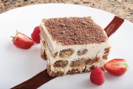 plated: tiramisu plated dessert pudding