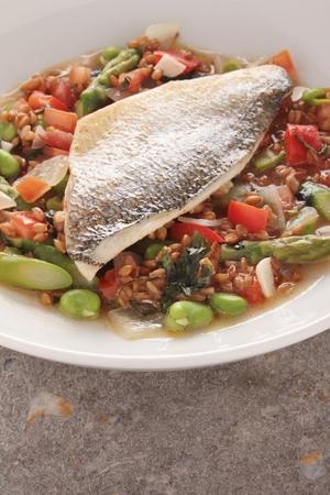 main: cooked fish main meal