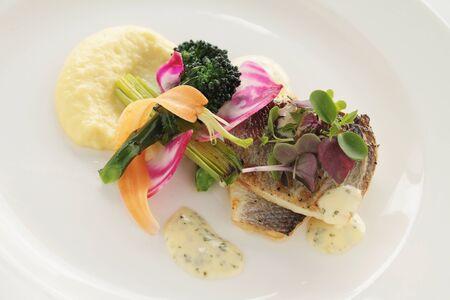 starter: plated fish starter appetizer
