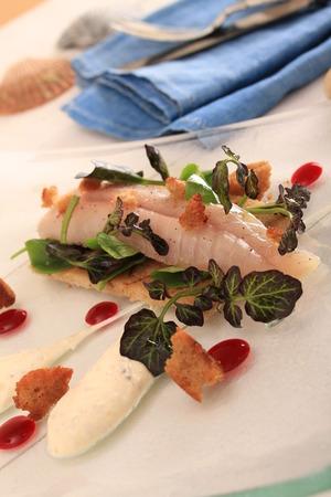 cured: cured mackerel plated appetizer starter
