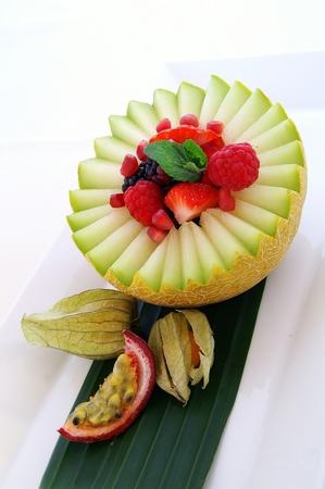 buffet dinner: fresh melon salad