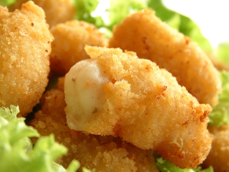 tails: breaded scampi tails
