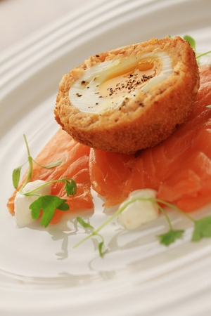starter: smoked salmon starter appetizer
