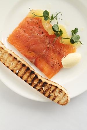 starter: smoked salmon appetizer starter