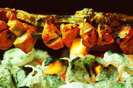 kebob: shish kofta kofte tikka kebabs Stock Photo