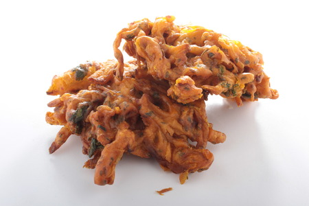 snack food: traditional onion bhaji