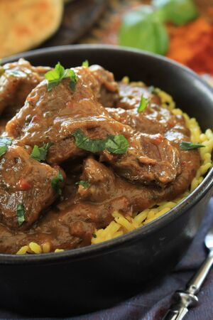 Indian beef lamb curry Stock Photo