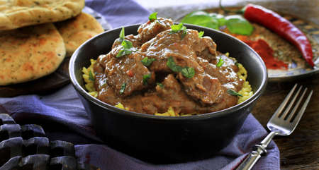 Madras: Indian beef lamb curry Stock Photo