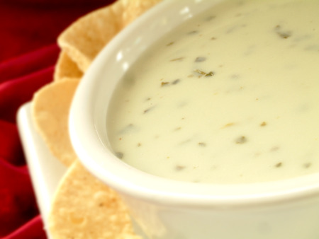accompaniment: Traditional Indian dip sauce Stock Photo