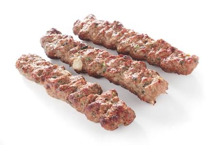 shish: shish kofta kofte tikka kebabs Stock Photo