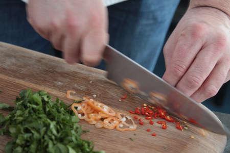 preparing: chef preparing food