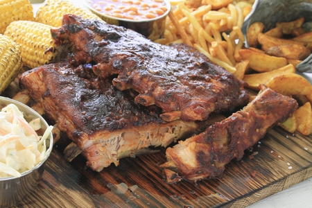 spare ribs: barbecue spare ribs platter
