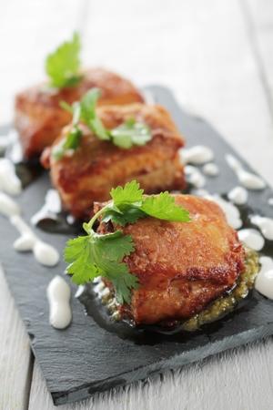 roast meat: pork belly bites