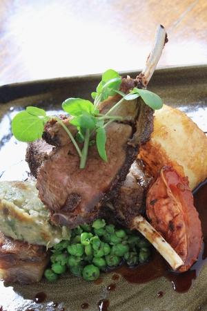 chop: roast lamb chop dinner Stock Photo