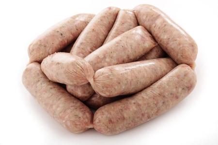 saucisse: saucisses de porc crues