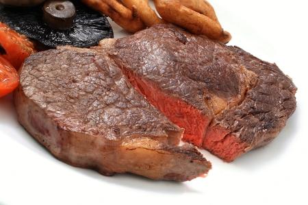 plated steak meal dinner