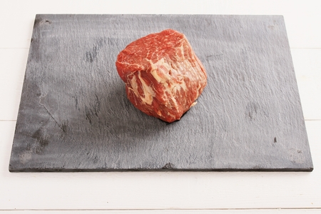 uncooked: raw uncooked steak Stock Photo