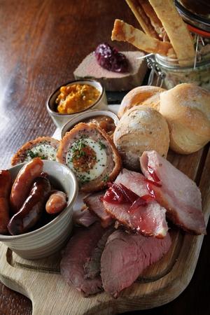 platter: mixed meat sharing platter Stock Photo