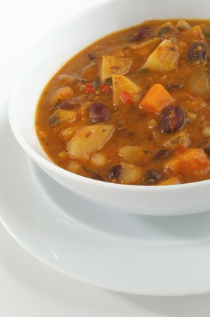 wholesome: wholesome bean soup Stock Photo