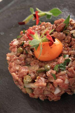 entrees: fresh steak tartare