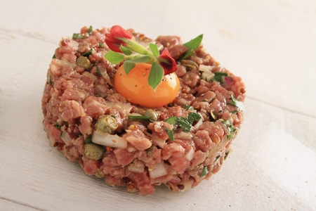 protien: fresh steak tartare