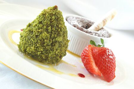 preperation: dessert sweet pudding Stock Photo