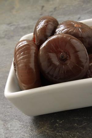 cebollitas: cebollas en vinagre bals�mico en