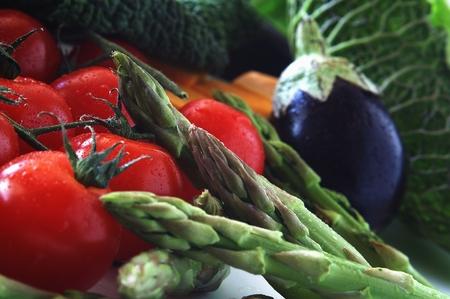 ingrediant: fresh vegetables Stock Photo