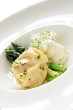 tortellini: fresh tortellini plated meal Stock Photo