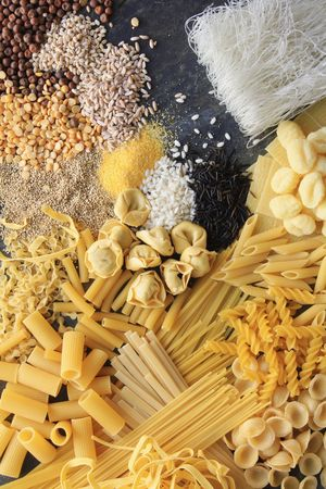 varieties: dried pasta rice seeds grains varieties