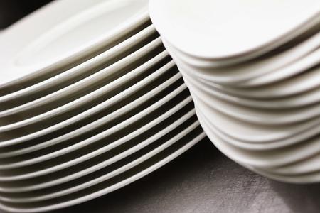 crockery: kitchen plates and crockery