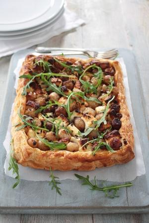 shallot: fetta and shallot puff pastry tarte
