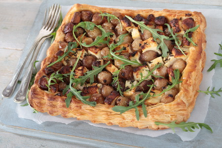 home baked: home baked onion tart meal