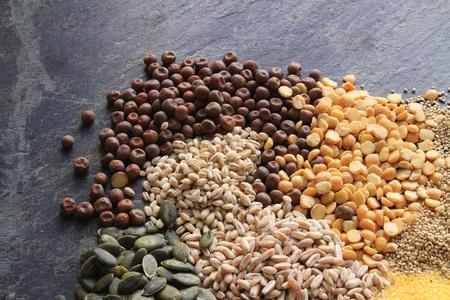 pulses: mixed pasta grain and pulses