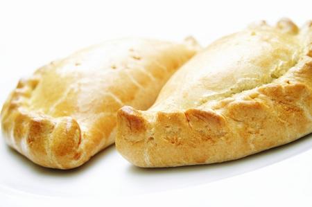 cornish pasty isolated on white